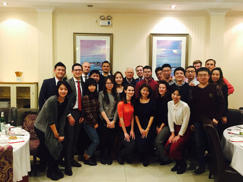 CTC-YCW mentors and mentees attended a dinner with Stapleton Roy, former US Ambassador to China  (1991-1995) and Founding Director Emeritus of the Kissinger Institute on China, in March 2016.