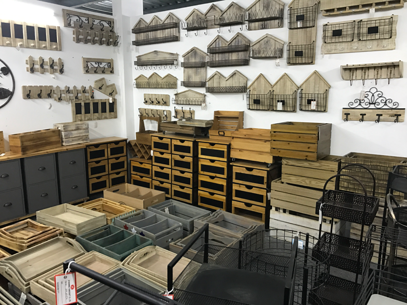 A showroom of furniture samples in a local company in Qianning. Photo taken by author in 2017.