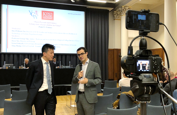 Michael Yip and Raffaello Pantucci, both of YCW London, during an interview