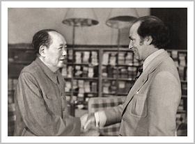Canada's former Prime Minister Pierre Trudeau meets Mao Zedong in Beijing, 1983. Credit: Government of Canada.