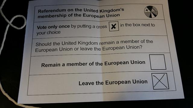 The referendum ballot on 23 June 2016. Flickr / (Mick Baker)rooster.