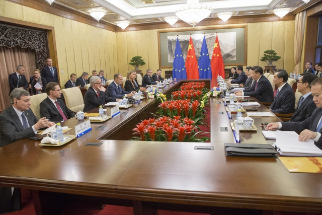 The 18th bilateral summit between the EU and China on 12 July in Beijing. Credit: The European Union.