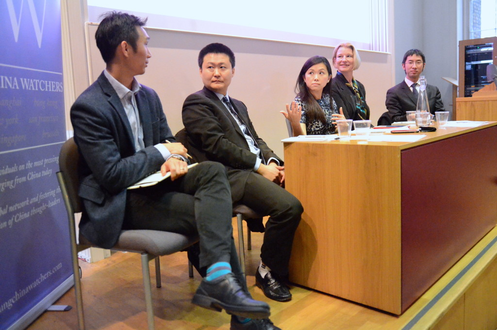 Third panel from L to R: Matthew Phan, Xin Sun, moderator Sue Anne Tay, Miranda Carr, and Geoffrey Yu