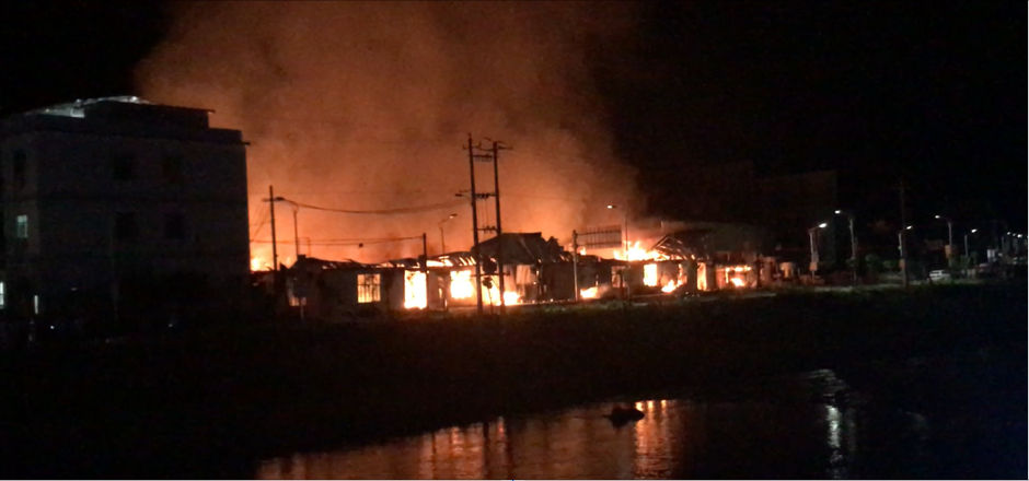 The fire destroyed the factory with more than 1,000 square metres. Photo taken by author in 2017.