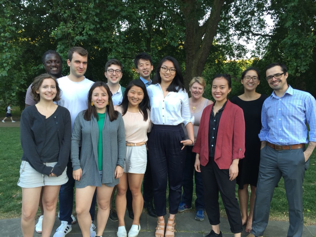Some of YCW London's inaugural  mentors and mentees in July 2018.